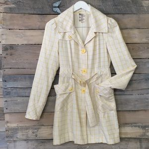TULLE | Modcloth Checker Belted Light Trench Coat